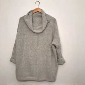 Modcloth Sweaters - Grey oversized cowl neck sweater | ModCloth